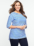 Textured Stripe Cotton Tee