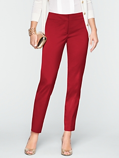 Signature Textured Satin Ankle Pants