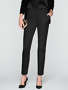Signature Textured Jacquard Ankle Pants