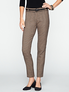 Signature Houndstooth Ankle Pants