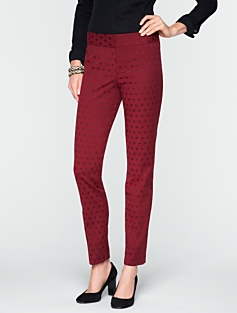 Signature Dot Jacquard Ankle Pants