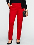 Curvy Textured Jacquard Ankle Pants