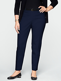 Slimming Heritage Cotton Bi-Stretch Ankle Pants