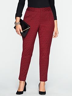 Heritage Dot Jacquard Ankle Pants