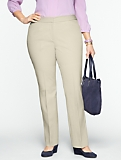 Slimming Heritage Cotton Bi-Stretch Straight-Leg Trousers