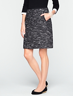 Carroll Tweed A-Line Skirt
