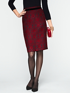 Kingston Jacquard Pencil Skirt