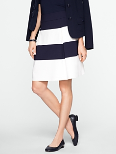 Bold Stripe Ponte Skirt
