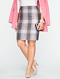 Herringbone Plaid Skirt