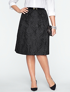 Medallion Matelass� Skirt