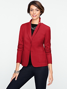 Italian Flannel Two-Button Jacket