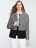 Houndstooth Colorblocked Jacket