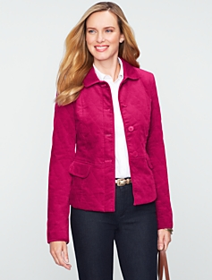 Quilted Velveteen Jacket