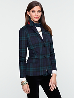 Black Watch Plaid Jacket