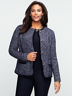 Basket-Weave Bi-color Jacket