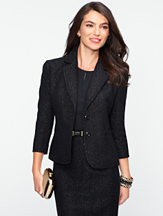 Sparkle Herringbone Tweed Jacket