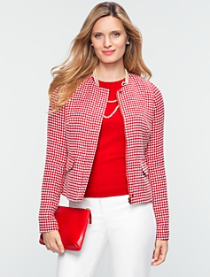 Dot Jacquard Jacket