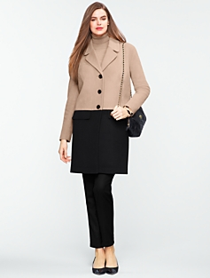 Colorblocked Coat