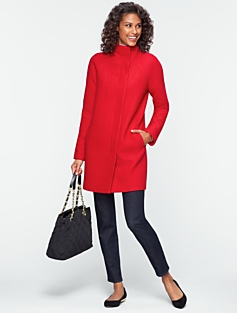 Bubble-Textured Coat