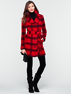 Amelia Plaid Coat