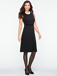Flocked-Dot Dress