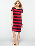 Bold Stripe T-Shirt Dress
