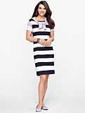 Bi-Stripe Tee Dress