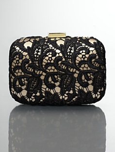 Miniaudiere Lace & Satin Clutch