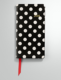 Polka-Dot Patent Leather Pocket Calendar