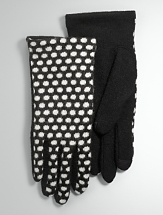 Polka-Dot Touch Gloves