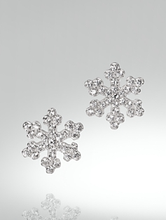 Sterling Silver Pav� Snowflake Earrings