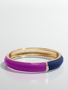 Rhinestone & Colorblocked Bangle