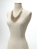 Faceted-Gem Bib Necklace