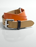 Colorblocked Leather Belt