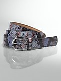 Colorful Exotic-Embossed Leather Belt