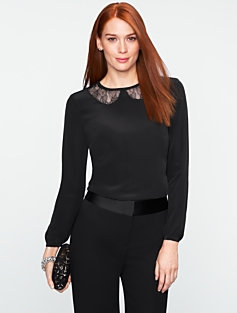 Peekaboo Lace-Collar Top