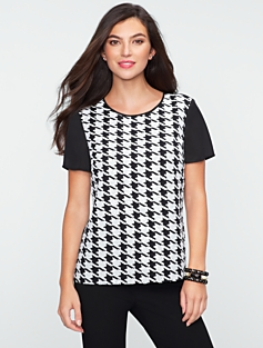 Sequin Houndstooth Top