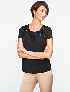 Crystal & Embroidered Blouse