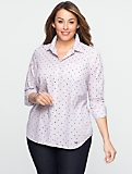 Dot-Stripe Cotton Shirt