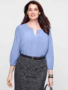 Pintucked Top