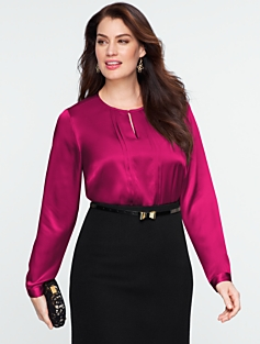 Charmeuse Pintucked Top