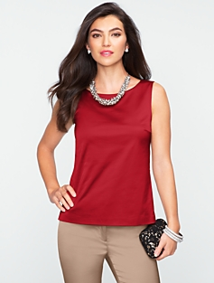 Textured Satin Sheath Top