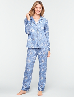 Winter Floral Pajama Set