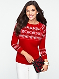 Talbots Cozy Holiday Fair Isle Pullover