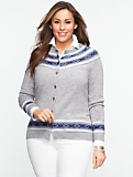 Cozy Fair Isle Stripe Charming Cardigan