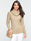 Talbots Cashmere Cowl-Neck Sweater