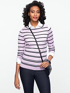Talbots Merino Resort-Stripe Sweater