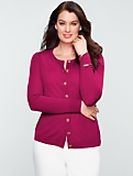 Talbots Merino Diamant�-Button Cardigan