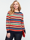 Talbots Cozy Multi-Stripe Sweater
