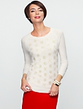 Talbots Cozy Sequin Snowflake Sweater